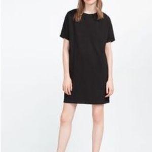 ZARA Black T-shirt Dress - S